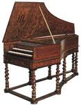 Clavecin de Vincent Tibaut, Toulouse 1679 Bruxelles, © Musée des Instruments de Musique