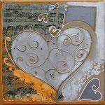 """ Saint Valentin"" - 30 x 30 - VENDU"