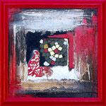 """30 x 30 - """"Rouge gothique"""" 250€"""