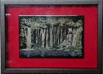 「白糸の滝」 12×18cm