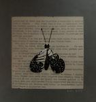 1917, Collage auf Transparentpapier auf Buchseite auf Fotokarton, 2019, 20x20