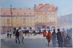 Altmarkt in Dresden  36x51 cm, gerahmt 60x80