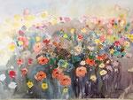 Blumengarten am Schloss Bruck   36x51 cm, gerahmt 60x80