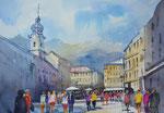 Innsbruck, Maria Theresien Straße, 36x51cm