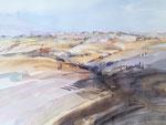 Landschaft in der Toskana, Siena, 52x36 cm, gerahmt 60x80