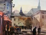 Salzburg Domplatz, 36x51 cm,   gerahmt 60x80
