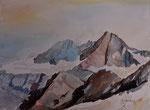 Großglockner aus Ri Osttirol, 40x30 cm, gerahmt 60x80
