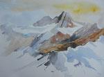 Großglockner aus der Sicht Osttirol,  gerahmt 60x80
