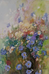 Blumen im Feld   36x51 cm, gerahmt 60x80
