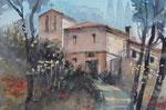 aufgel. Kloster Monte Sante Marie   36x51 cm,  gerahmt 60x80