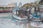 Fischerhafen in Caorle, 36x51 cm, gerahmt 60x80