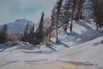Lienz, Hochstein im Winter m. Dolomiten, 36x51 cm, gerahmt 60x80