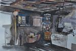 Küche im Kammerlanderhof, 52x36, gerahmt 60x80
