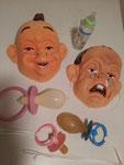 Babymasken ,je Fr. 8.- / Riesenschnuller Fr. 3.-
