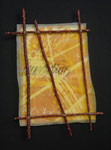 Omen Charts, No 1 (2005) batik silk, organza and twigs, 10 x 6.5 inches