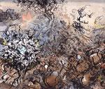 Nid de terre (1) - 2011 - 21 x 25 - Encre, aquarelle
