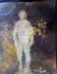 Rêve noir -  2018, teinture végétale sur coton, 45x35cm