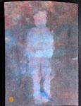 Rêve dans l'eau -  2018, teinture végétale sur coton, 45x35cm