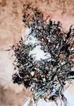 Nid de terre  - 2011 - 42 x 60 - Encre et acrylique