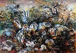Terre bois - 2012 - 32 x 24- encre de chine, aquarelle
