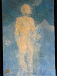 Rêve sable -  2018, teinture végétale sur coton, 40x30cm