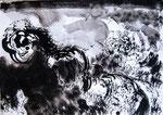 Une chose - 2012 - 50x40 - encre de chine