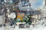 09.03.2016 Stahlfeder  Sepiatusche,Aquarellfarbe auf Saunders Waterford-Bütten (37,5cm x 56,5 cm)