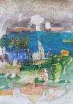 -Hochzeitsbild für Familie Perlet - (2006) 32x44 Aquarell,Tusche ,Blister und Buntstift auf Saunders Waterford Bütten