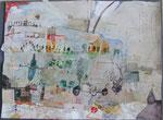 -Der Weg aus Dresden - (2005) 55x75 Aquarell,Tusche ,Blister ,Collage und Buntstift auf Saunders Waterford Bütten