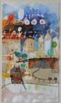 -Die Kohle Kommt-(2003) 32x18 Aquarell und Collage