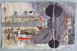 -Gewendeter Brief- (2003) 19x29 Aquarell,Tusche ,Blister und Buntstift Briefumschlag