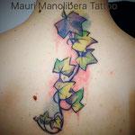 watercolor tattoo - Mauri Manolibera Tattoo - Castel San Pietro, Mendrisio  (Svizzera) Borgomanero (Italia)