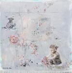 Hope, Acrylfarbe, Zeichenstift auf Lw. 100 x 100 cm