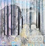 EPOCHENSPIEGEL, Acrylfarbe, Textil auf Lw. 100 x 100 cm