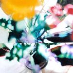 「鏡花水月〜rainbow1〜」/15S/ アクリル、パネル、綿布