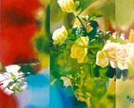 「七色菓子」/3F/ アクリル、パネル、綿布