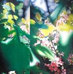 「緑のめまい」/6S/ アクリル、パネル、綿布