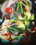 「水と光の戯れ」/100F/ アクリル、パネル、綿布
