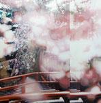 「花の宴」/30S/ アクリル、パネル、綿布