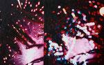 「夜のスパーク」/10M/ アクリル、パネル、綿布