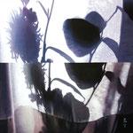 「花の影遊びⅡ」/92×92㎝/ アクリル、パネル、綿布