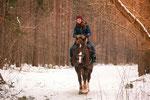 На лошадке по зимнему лесу