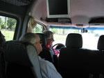 Auf der Reise im Kleinbus