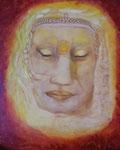 Gottheit part 7    40 cm x 60 cm Leinwand auf Keilrahmen Rötel, Acryl, Öl