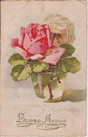 Jounok 173 [vase en verre avec roses rose et blanche]