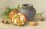 STZF 1254 [pot bleu avec oranges]