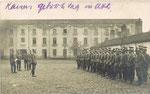 Ath Anonyme [photo-carte allemande - caserne en 1916, Uhlans allemands]