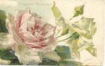 Tuck 4094 [1 rose rose, 1 jaune-vert, boutons vert-rouge et vert]