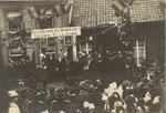 Anonyme [Photo-carte : commémoration des soldats belges tombés pour la Patrie]