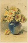 TSN 1276 [vase bleu avec marguerites blanches]